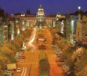 Wenceslas plein in Praag